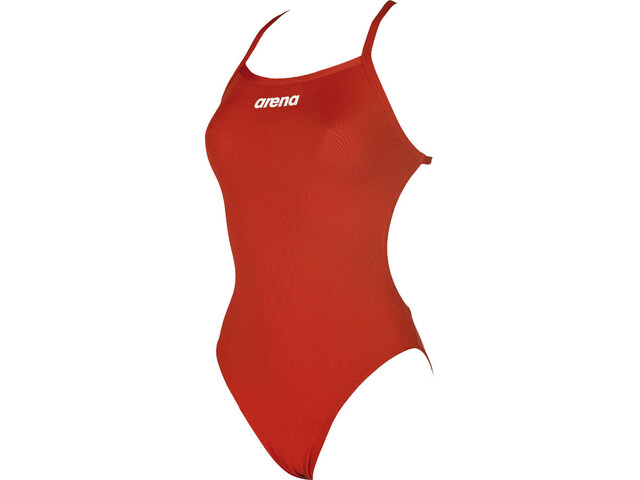 0aede37c9 arena Solid Light Tech High Bañador Mujer, red-white | Campz.es